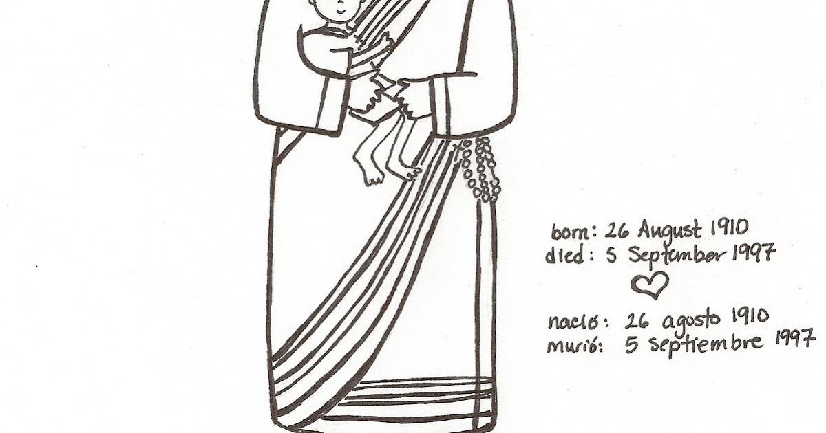 Mother Teresa Coloring Page