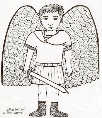 Saint gabriel the archangel coloring pages