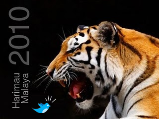 Ucapan Tweet seluruh dunia kepada Harimau Malaya