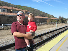 Granpa & Braden at the S.V. trrain station