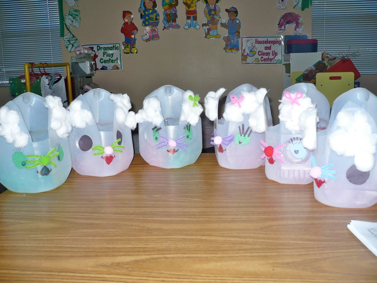Centers and circle time easter basket bunnies easter basket bunnies negle Images