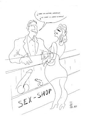 Sex-shop, felicitacion de Navidad de Salvador Manzanera