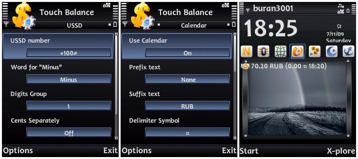 Программа TouchBalance для Symbian 9.x скачать бесплатно. Просмотреть все