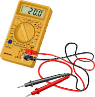 A multimeter, the Swiss Army Knife of dealing with electrical problems.