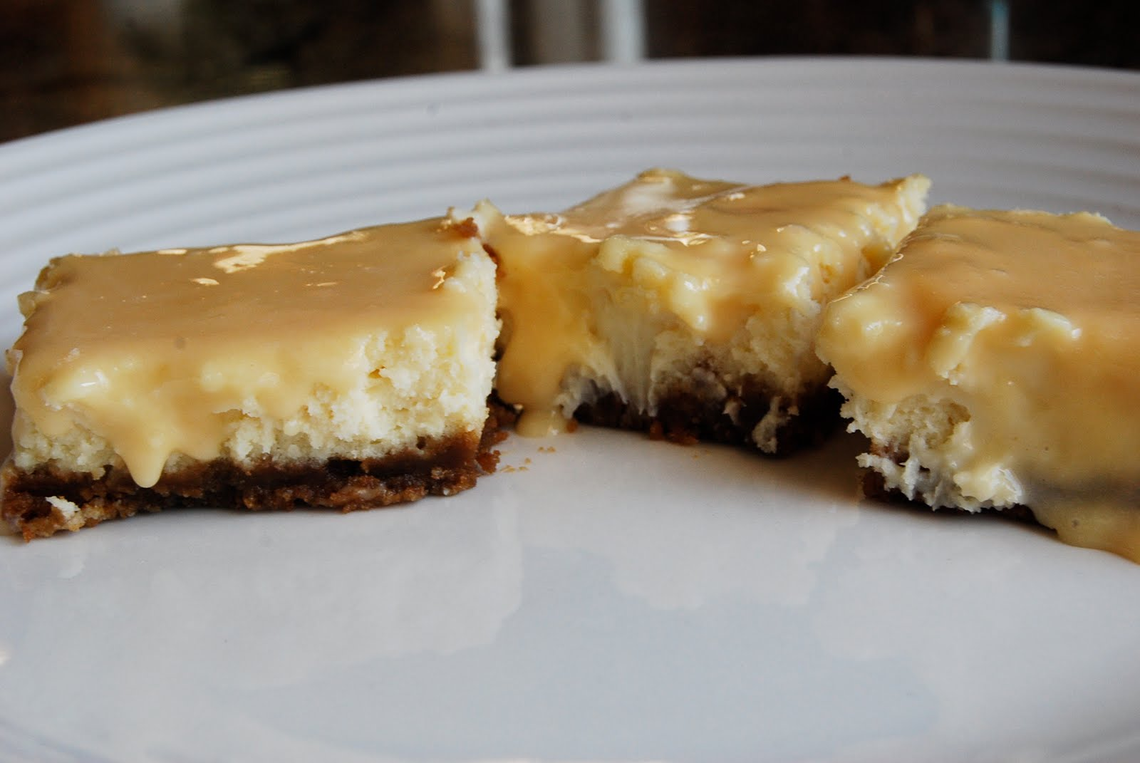 Dulce De Leche Cheesecake Squares Recipe — Dishmaps