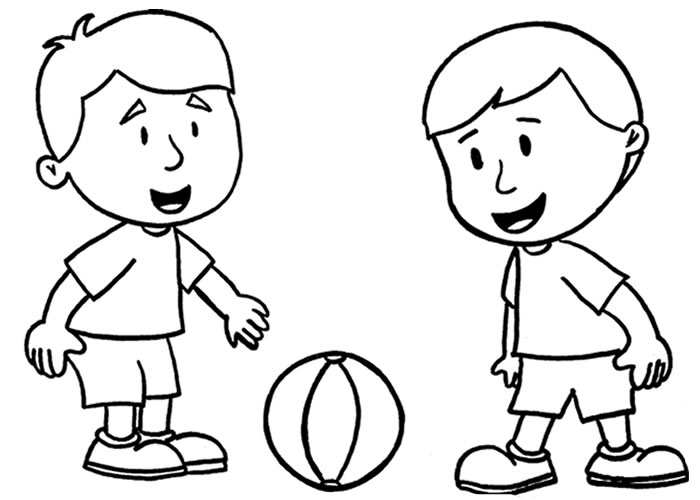 Meninos Jogando Futebol  Desenho Para Meninos Colorir