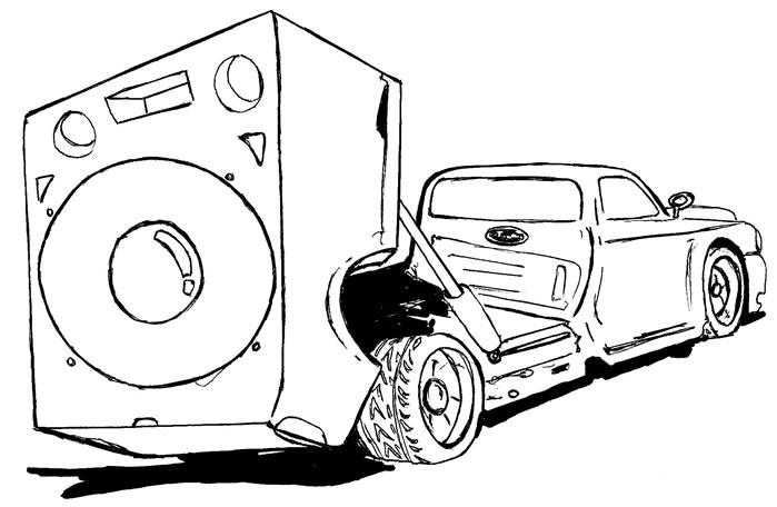 Desenho De Carro Equipado Para Colorir