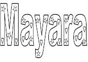 Nomes para colorir. Desenho de palavras para pintar.