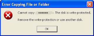 cara menghilangkan write protection pada flash disk