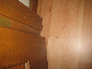 Several of the closets had these bad seams and joints