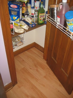 the pantry floor