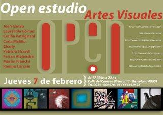 Open Estudio en Barcelona, España - 2008