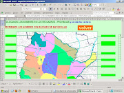 Los alumnos de 5°grado trabajaron en el mapa de la República Argentina dibujo