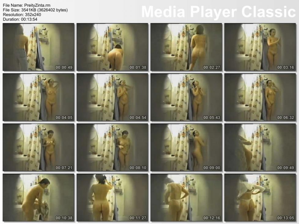 prety zhinta naked shower