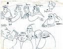 """Personaxes de """"O nome da Rosa"""" debuxados por U. Ecco"""