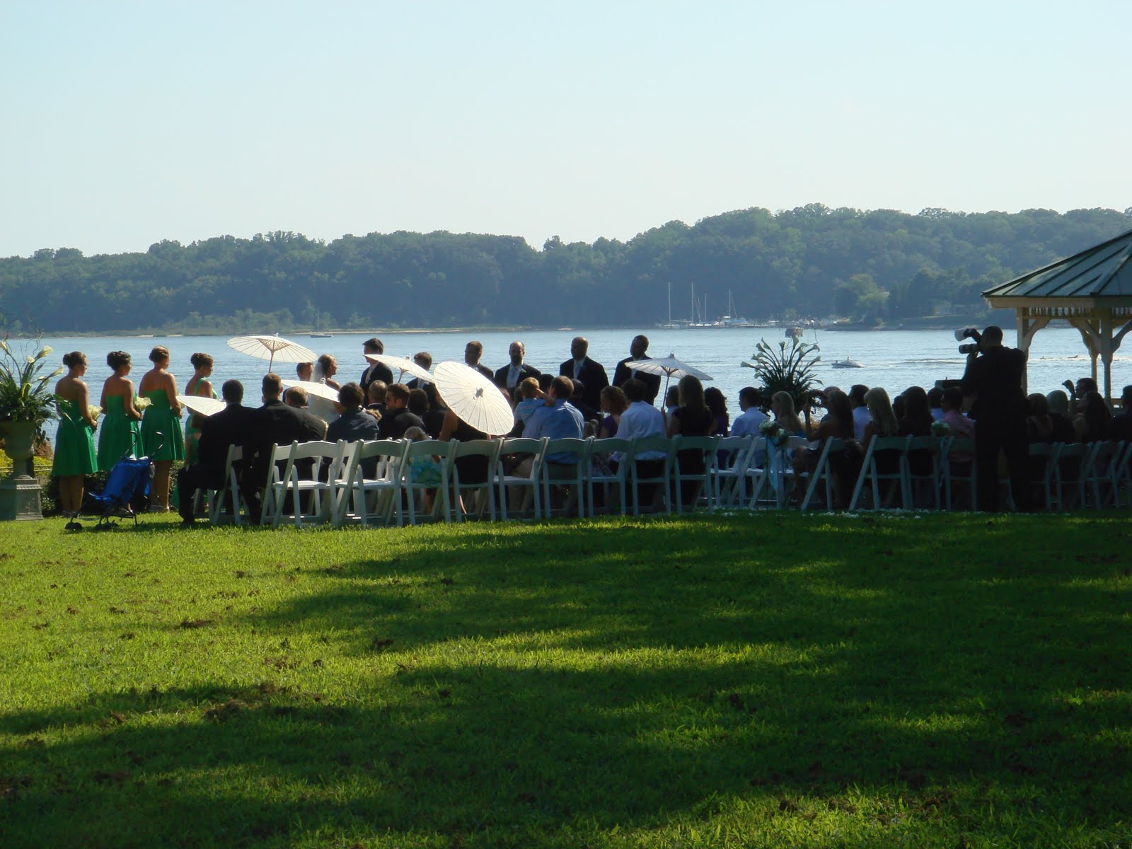 The Ceremony Was Held At South Overlook Of Quiet Waters Park In Annapolis As Guests Watched Overlooking Water They Had Option To