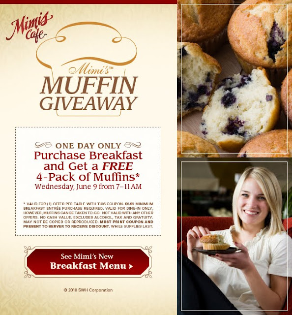 Penny Pinching Pixie: Get Free Muffins tomorrow at Mimi's Cafe with ...