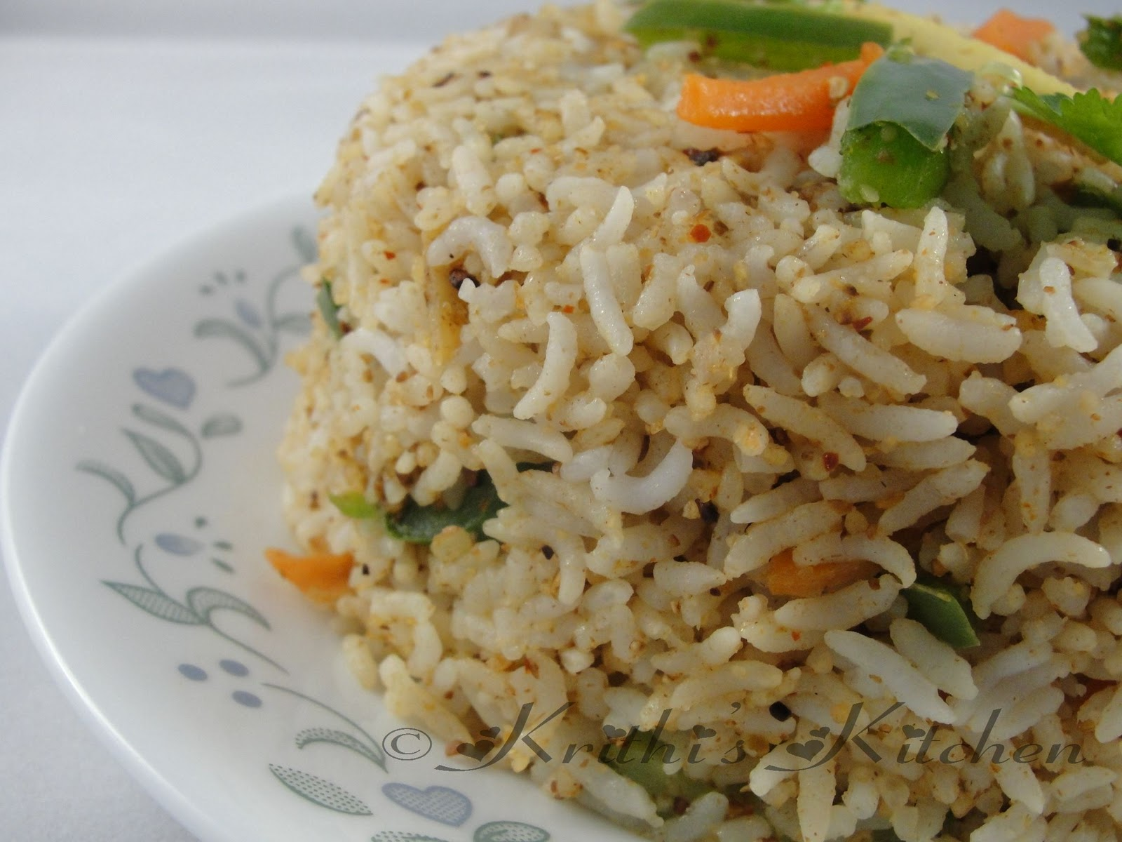 Krithi S Kitchen Nutty Vegetable Masala Rice Indian Rice Recipes