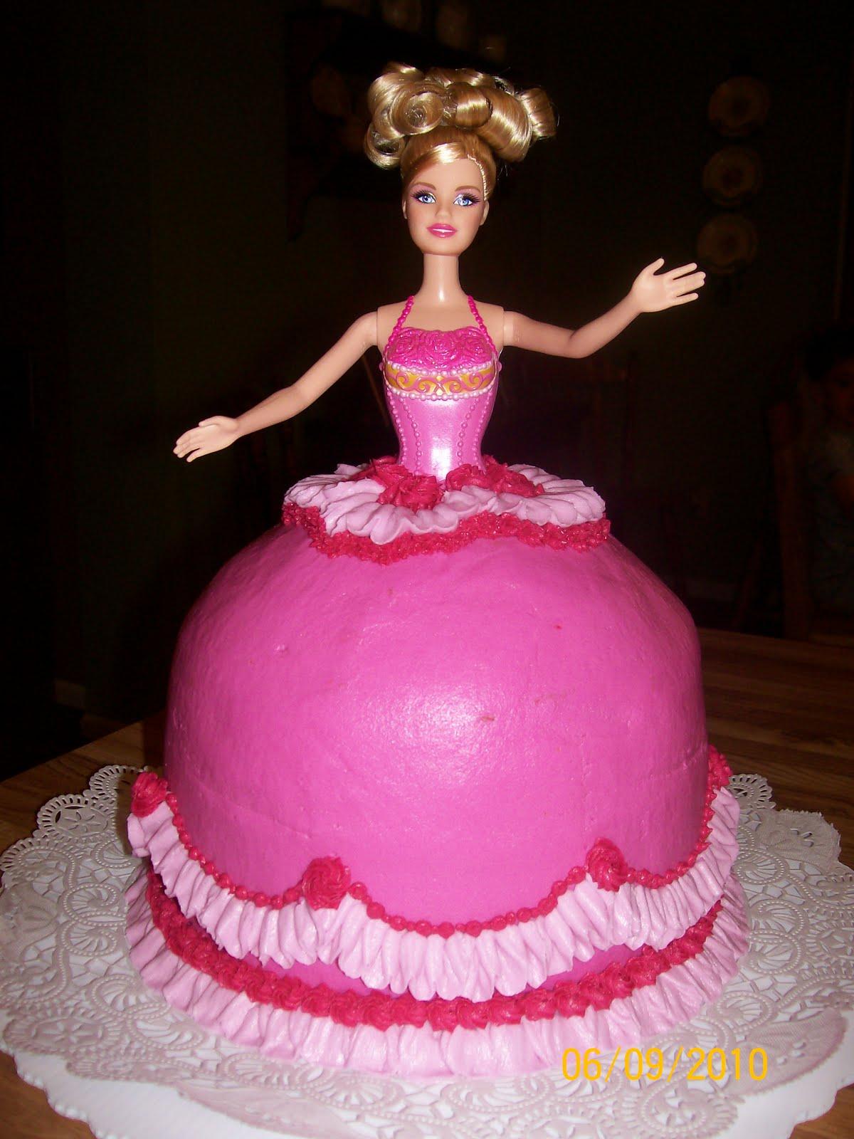 the cake box girls Barbie Doll Cake