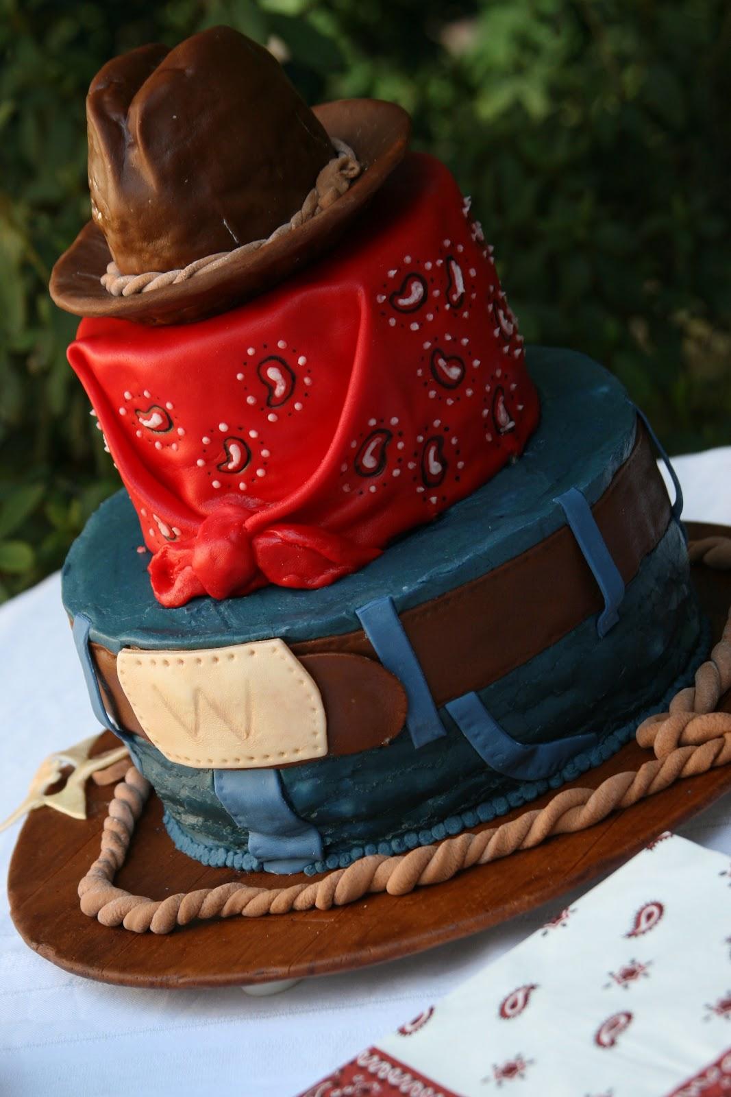 The cake box girls cowboy birthday cake