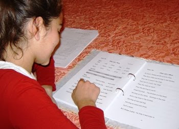 Student using Reading Rocks!