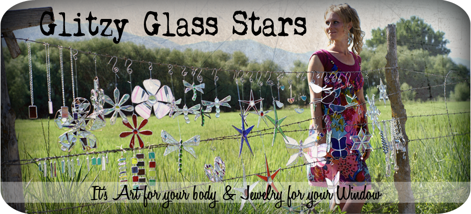 Glitzy Glass Stars