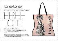 free bebe tote bag