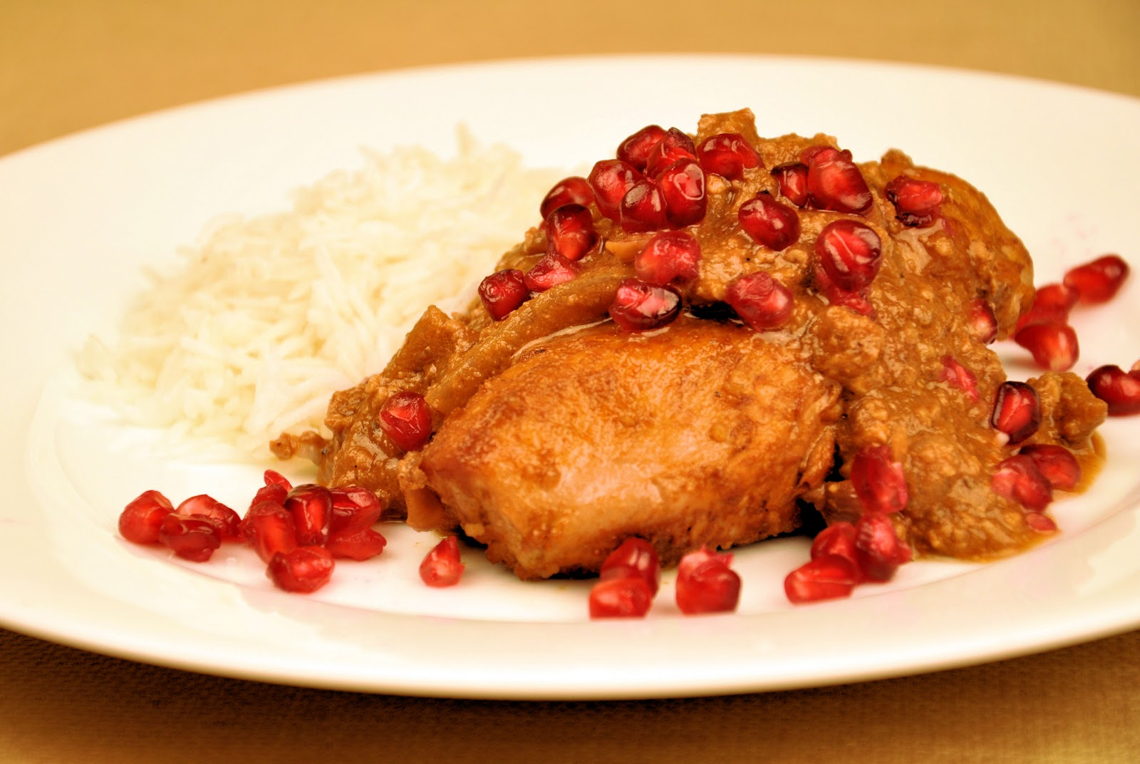 ... to Grow: Fesenjan (Pomegranate Walnut and Onion Sauce with Chicken
