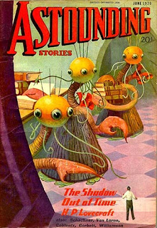 Yithiani in copertina per The Shadow Out of Time di H.P. Lovecraft, su Astounding Stories, giungo 1936