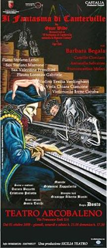 Il fantasma di Canterville Teatro Arcobaleno Roma locandina