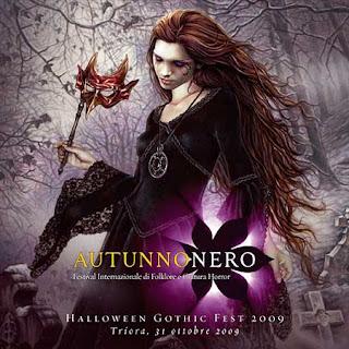 Halloween Gothic Fest 2009 Triora illustrazione Victoria Frances