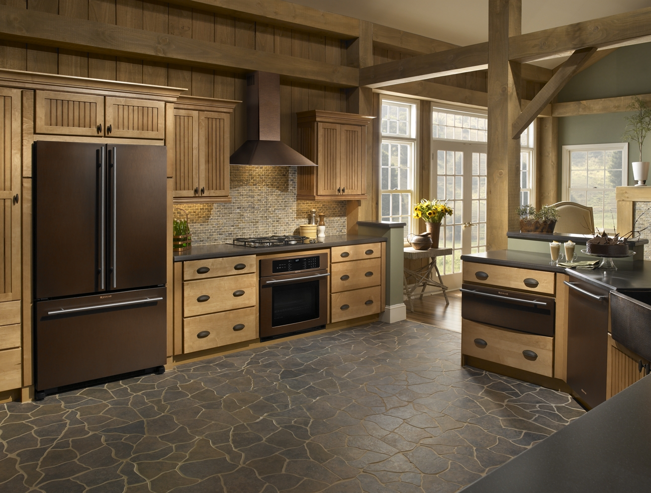 marvelous Oil Rubbed Bronze Appliances Kitchen #1: Jenn-Airu0027s new finish, Oiled Bronze