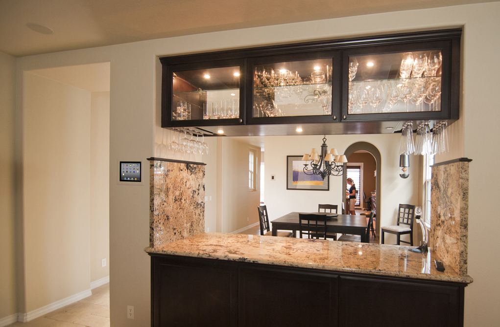 Trend Somewhere on this wall of granite is a double light switch next to a double outlet See it