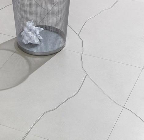 Kitchen and residential design broken tile on purpose for Carrelage fn