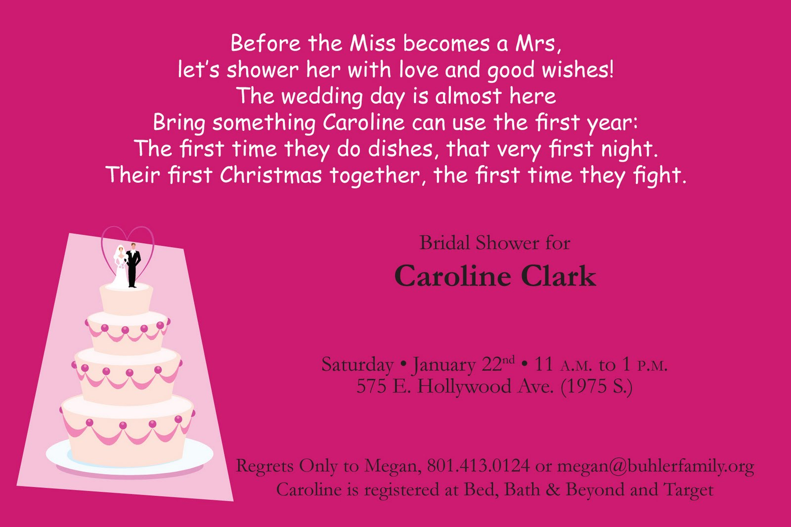 Bridal shower invitations bridal shower invitation poems and quotes poem online for the invitation so i came up with this rather filmwisefo Images
