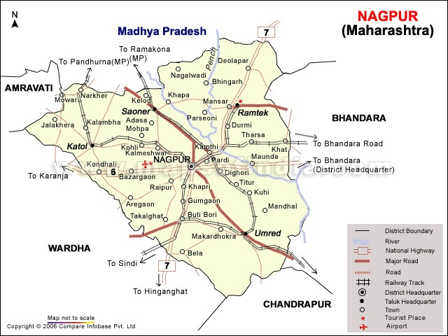 Nagpur University Nagpur city map