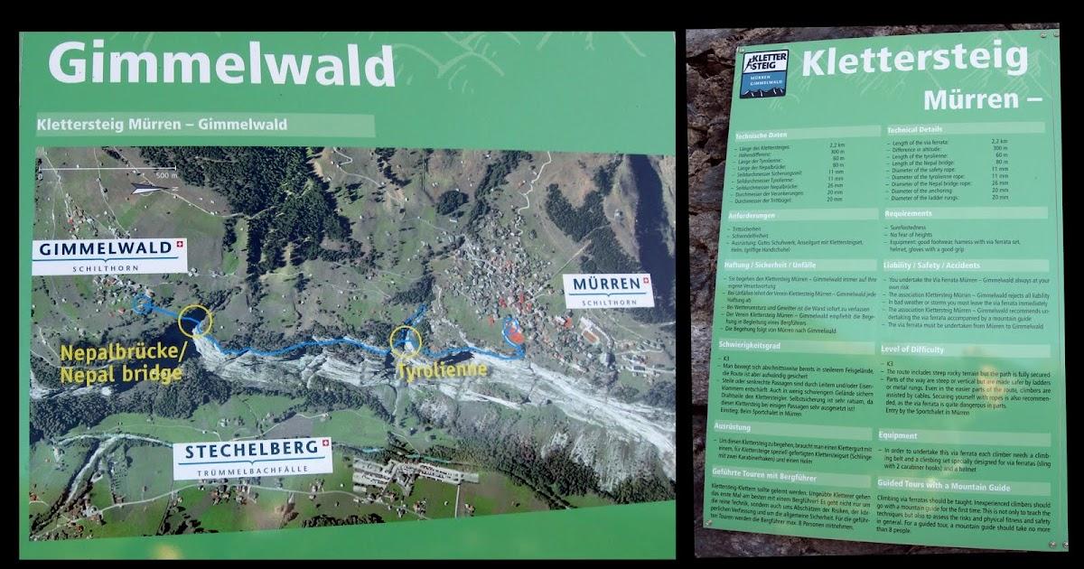 Klettersteig Mürren : Line freeride via ferrata mürren u gimmelwald ch