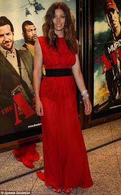jessica biel A Team premiere