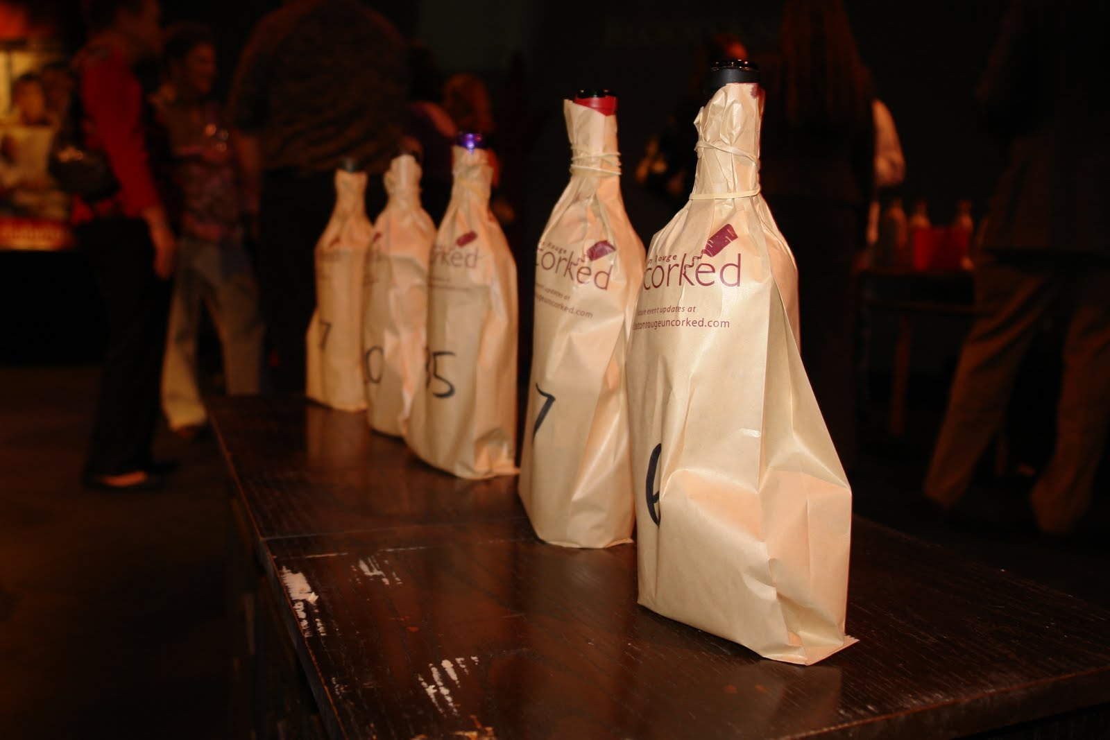 Baton Rouge Uncorked Wine Bottles at the Baton Rouge Little Theater