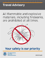 TSA Fireworks Signage