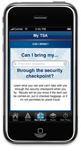 Screen shot of My TSA app on smart phone.
