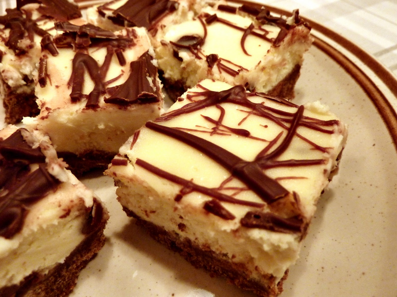 Chocolate Cheesecake Bars ~ Whimsical Cookery