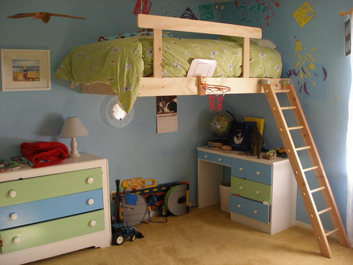 Kids loft bed plans with beautiful designs and remodeling for How to make a loft room