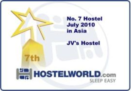 Award by hostelworld, The World's No.1 Hostel Booking Website