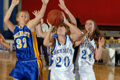 Durgin leads Lady Hawks past Belfast, Lions boys gain come from behind win