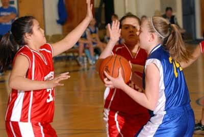 Glenburn, Calais, MDI open Glenburn Rec 5/6 girls tourney with wins