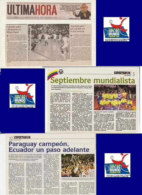 PRIMER MUNDIAL DEL FUTBOL DE SALON DEL  ECUADOR