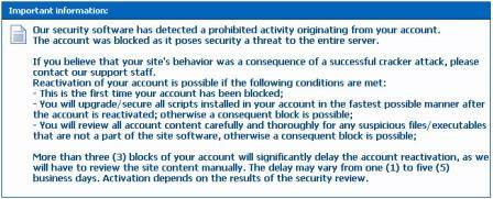 warning form free hostia
