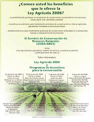 ¿Conoce Usted Los Beneficios que le Ofrece la Ley Agrícola 2008?