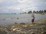 Praia na Baia de Paquitequete